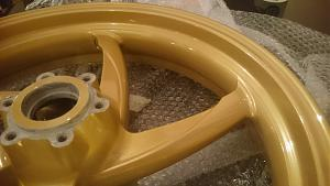 Gold Powder Coated Wheels