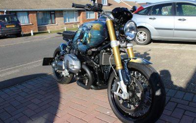 Ceramic Coated Exhaust on Batman Bike…