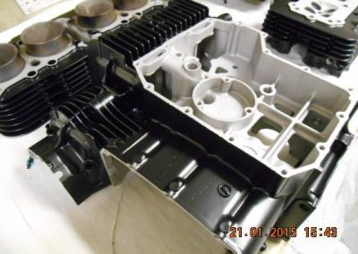 Engine-casings-finished-in-powder-coat-satin-black-1