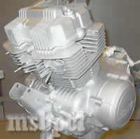 silver_honda_engine
