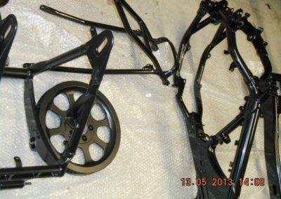 various-motorycle-powdercoated-frames-2
