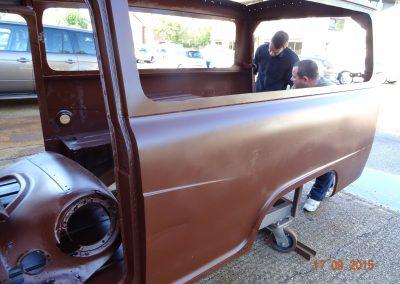 Austin-A60-van-blasted-8