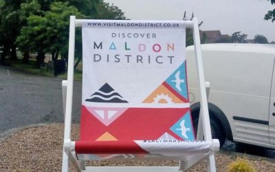 Large selfie deck chair powder coated for MDC